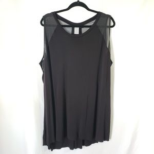 Livi Active Mesh racer back tunic top Size 26/28